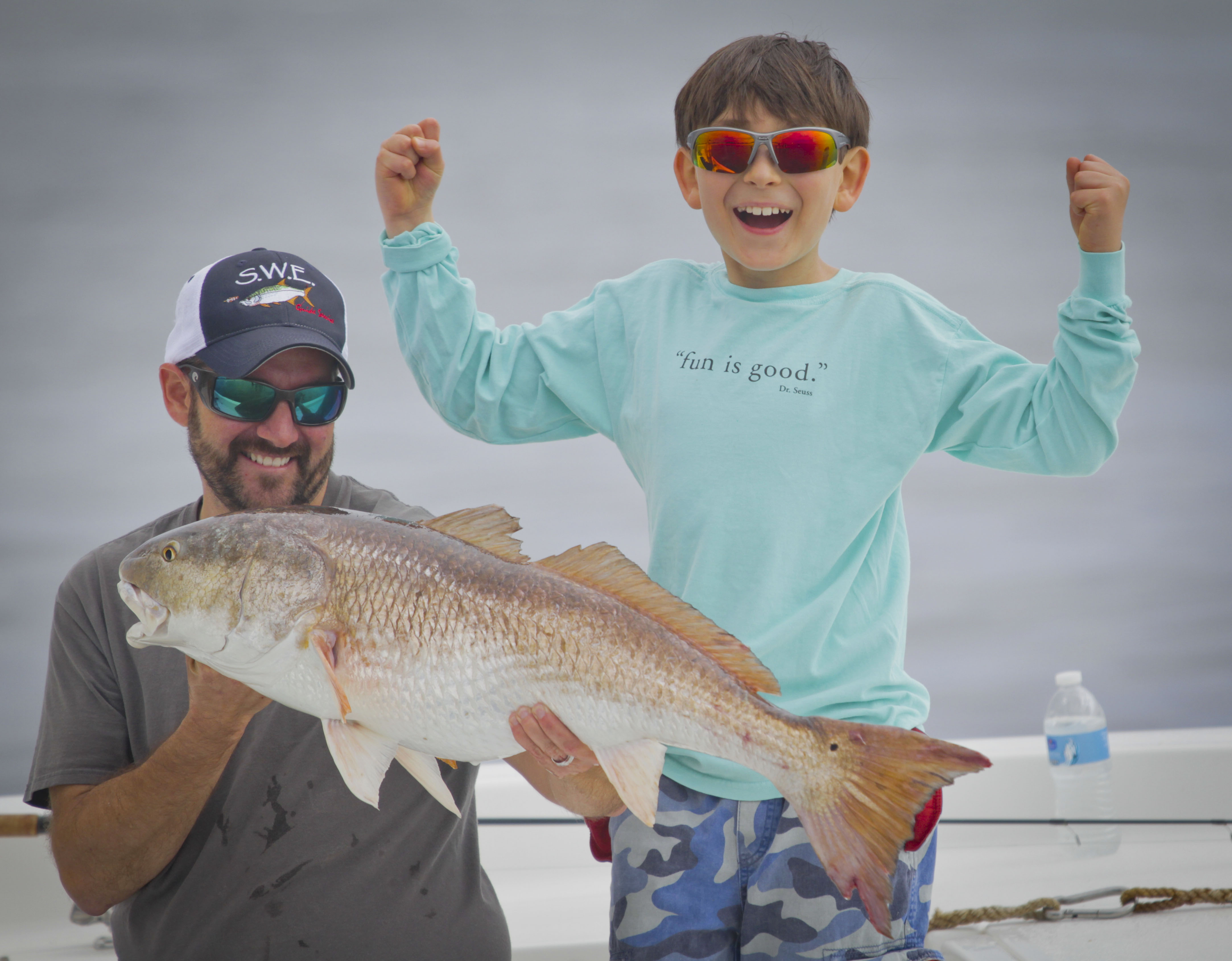 phil and kid redfish